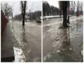 В Киеве из-за прорыва трубы на проспекте появилось