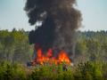 На учениях США в Латвии загорелась платформа с техникой