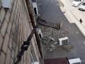 Во Львове обрушился балкон с человеком