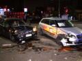 В Киеве столкнулись два такси: четверо пострадавших