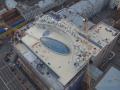Стеклянный купол киевского ЦУМа сняли с беспилотника