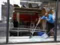 В Филадельфии во время беспорядков повредили десятки банкоматов