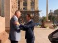 Канцлер Австрии вместе с мэром Киева прогулялись по Крещатику
