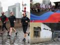День в фото: землетрясение в Пакистане, шествие в Донецке и Цукерберг под дождем