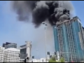 В столице ОАЭ загорелась недостроенная высотка