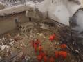 Место падения самолета в Киргизии сняли с беспилотника