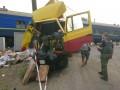 В Луганской области поезд протаранил грузовик