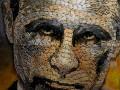 В Нью-Йорке показали портрет Путина из гильз