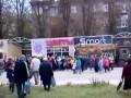 В Горловке устроили давку за гуманитарку от