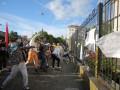 По факту беспорядков у посольства РФ задержаны три человека - МВД