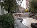 В центре Киева на дороге появилось 5-метровое озеро