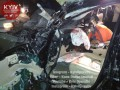 На трассе Киев - Житомир в результате аварии водителя зажало в салоне авто