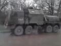 По Симферополю прошла большая колонна военной техники