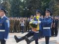 В Киеве почтили память погибших под Радой нацгвардейцев