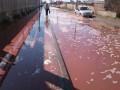 Под Липецком улицы затопило соком из-за рухнувшего склада