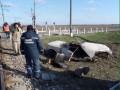 На переезде в Запорожской области поезд разорвал ВАЗ-2101