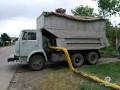 В Харьковской области пьяный угнал КАМАЗ и повредил газовую сеть