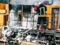 В Киеве загорелся локомотив