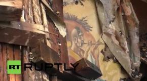 В Донецке в результате обстрела загорелась школа: последствия пожара