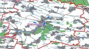 Карта Андрушівський район, Житомирська область, Україна