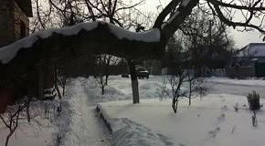 Прикольный способ покататься на санках зимой
