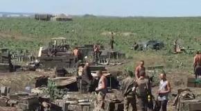 Силовики показали свои позиции под Донецком
