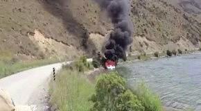 Как потушить лодку без огнетушителя