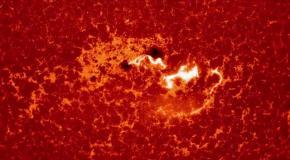 Спутник зафиксировал гигантскую вспышку на солнце