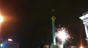 Салют на Евромайдане в Киеве