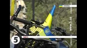 В Одессе состоялся велопробег за единство Украины