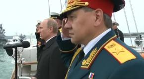 Путин принял парад Черноморского флота в Севастополе 9 мая