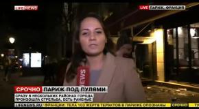 В Париже прохожий в прямом эфире обматерил российский телеканал Lifenews