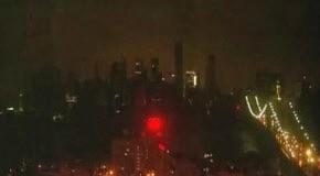Ураган Сэнди оставил Нью-Йорк без электричества