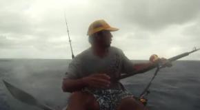 Экстремальная рыбалка на каяке