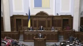 Виступ Олега Тягнибока на засіданні парламенту