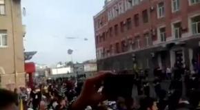 Ультрас в Харьове поют гимн Украины - 27 апреля