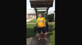 Ice bucket challenge с трактором