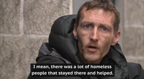 Бездомный, помогавший раненым в Манчестере, стал героем соцсетей