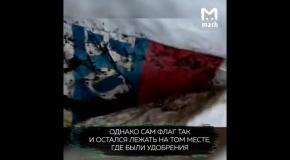 Депутат-единорос накрыл навоз флагом РФ