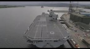 Дрон заснял авианосец ВМФ Великобритании