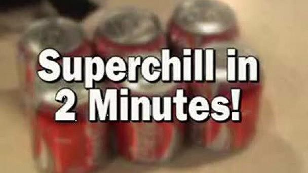 Оказывается, можно охладить любой напиток очень быстро.