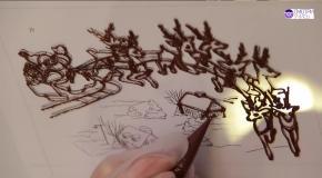 Необычный подарок новогодняя шоколадная открытка - Видеокурс