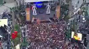 Флеш моб на концерті Black Eyed Peace