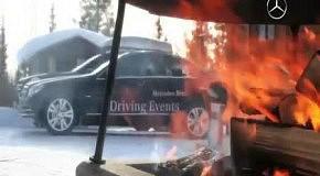 Дрифт у полярного круга на Mercedes