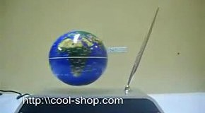 Летающий глобус с подставкой для ручки