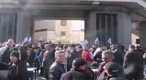 Крым создаёт отряды самообороны 23 февраля 2014 г