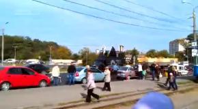 Кандидат от Интернет партии Украины Дарт Вейдер проехал по улицам страны