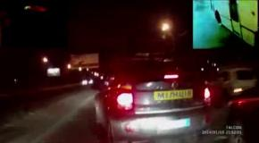 Беркут разбил автомобиль активисту Автомайдана
