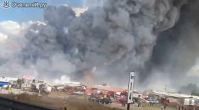 Пожар на рынке фейерверков