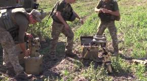Тренировка ракетчиков ВСУ